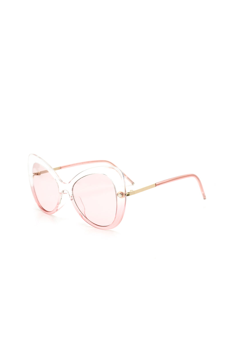 Shay Cat Eye Sunglasses - Clear/Pink