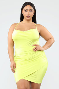 Sweet In A Sexy Way Mini Dress - Lime