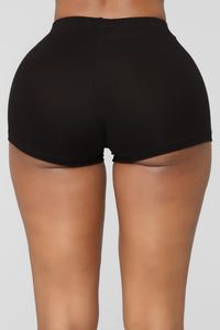 Plain Jane Mini Shorts - Black