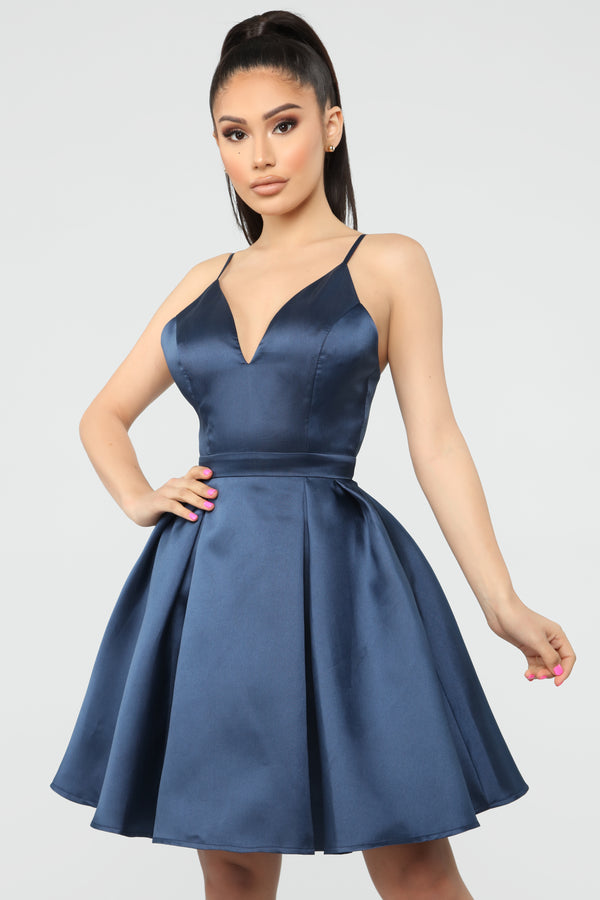 135a0880b78 Loving You Always Fit And Flare Dress - Navy