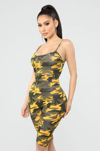 Ground Work Camo Romper - Mustard