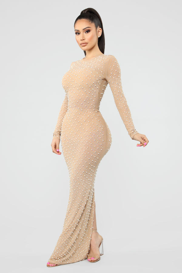 5bfa159e2a Jacey Embellished Maxi Dress - Nude