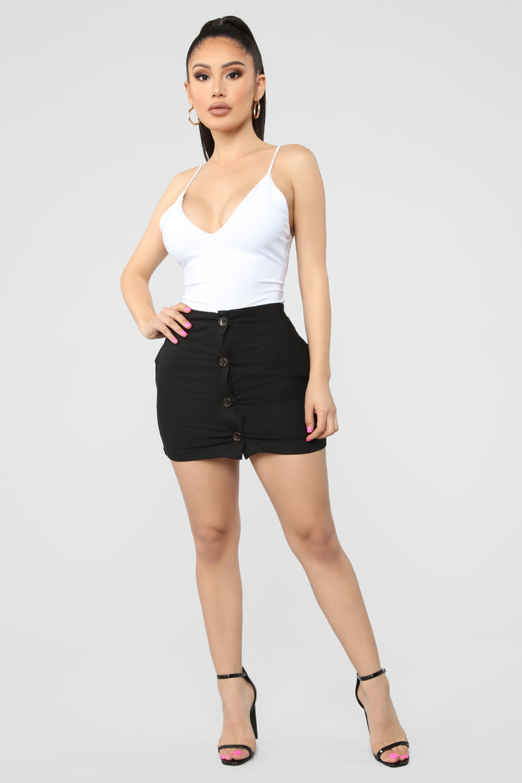 Make It Last Forever Linen Mini Skirt - Black