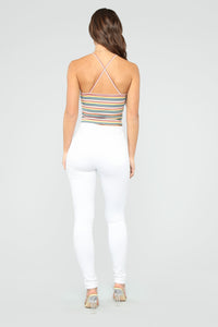 Multi Stripe Strappy Cami - MultiColor