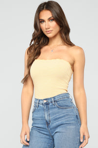 Baby Change Me Top - Yellow/White