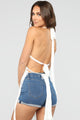 Can't Fringe With Me Top - White