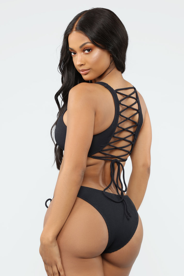 En El Mar 2 Piece Swimsuit - Black