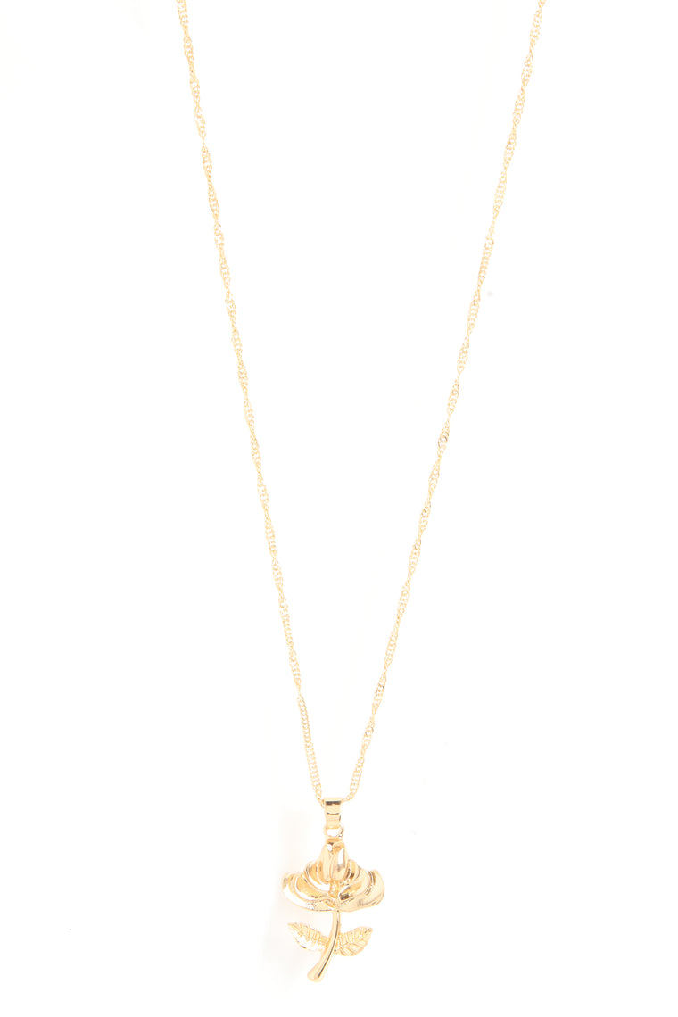 Petal To The Metal Necklace - Gold