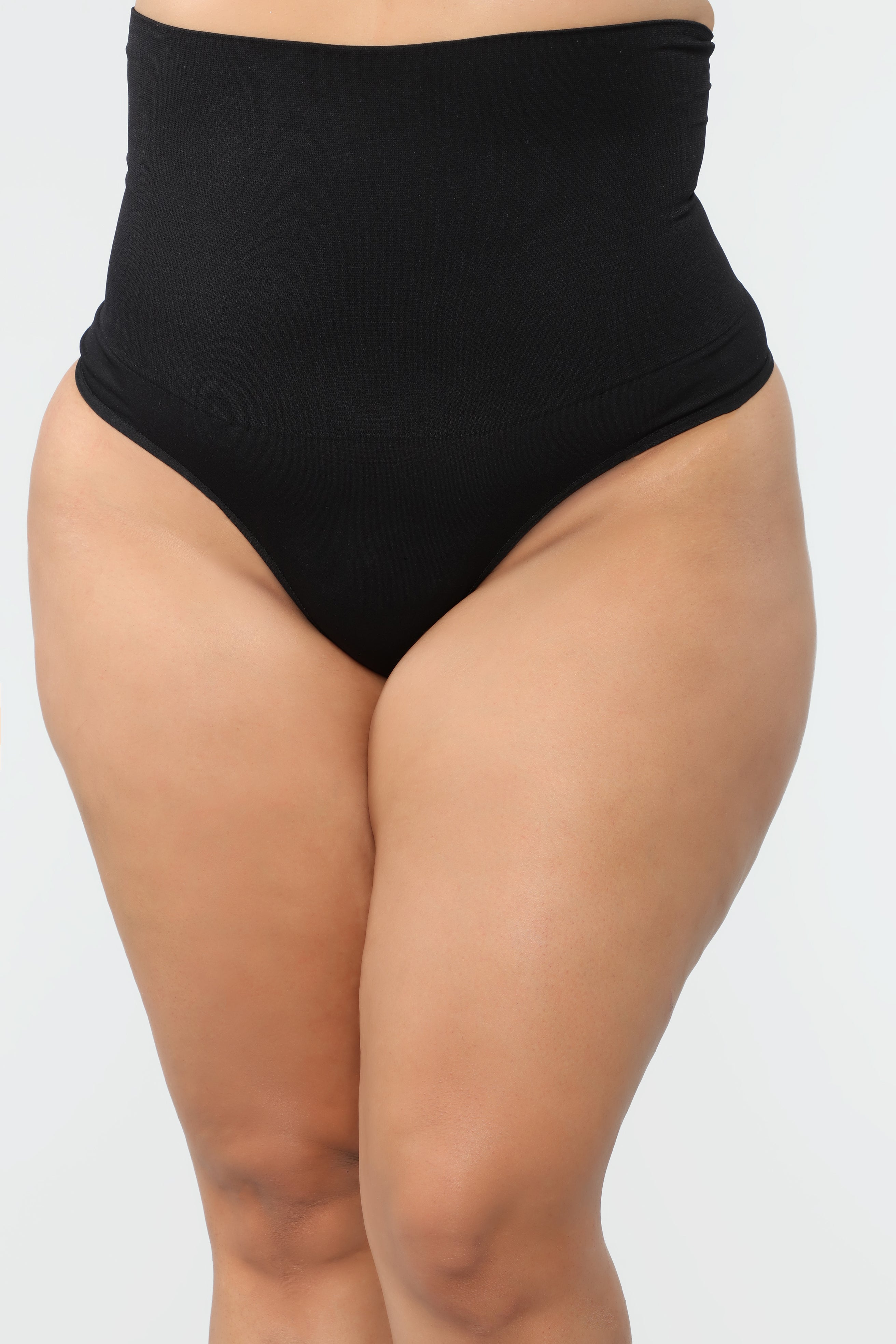 61ae12617 High Waist Shapewear Thong - Black