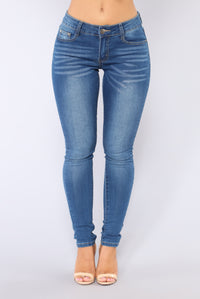 Hanini Skinny Jeans - Medium Blue Wash