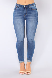 Randie Skinny Jeans - Medium Blue Wash
