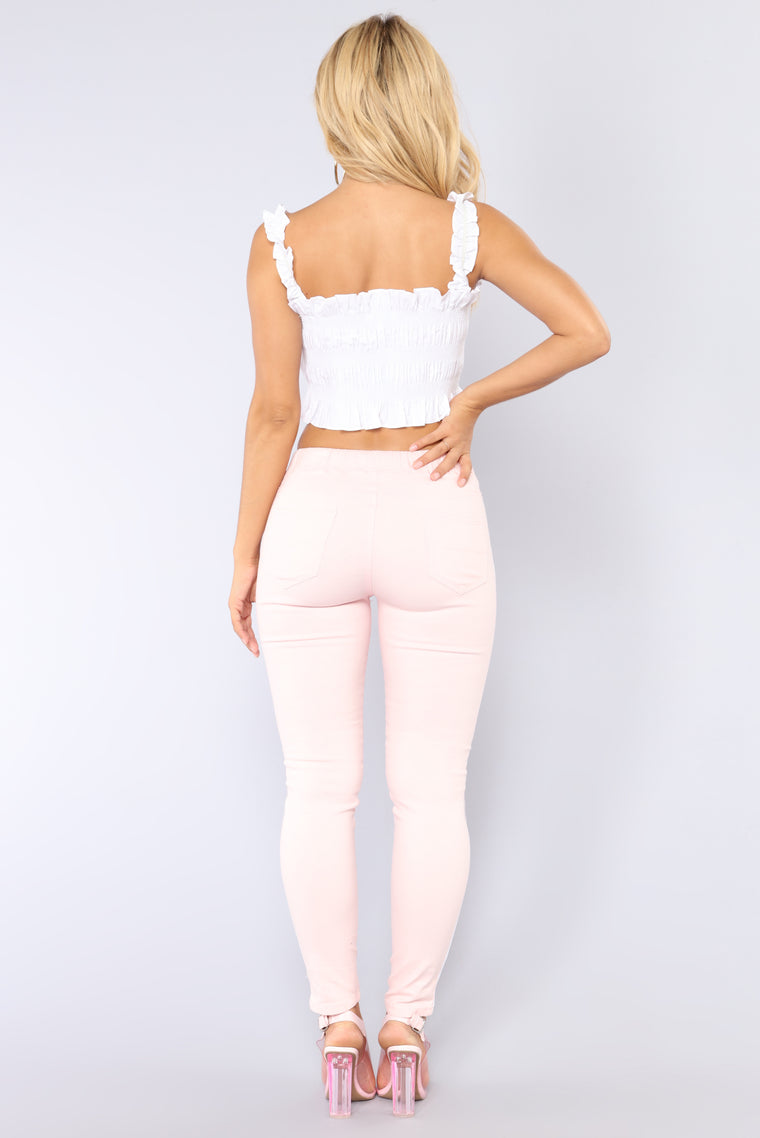 Spice Of Your Life Joggers - Pink/White