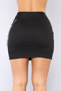 Leila Mini Skirt - Black