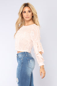 Happy Place Blouse - Blush