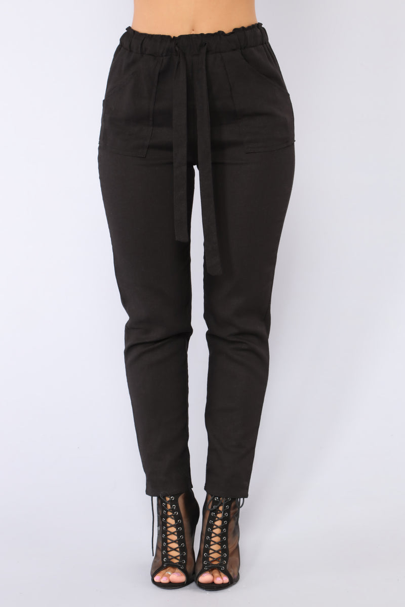 All Tied Up Pants - Black