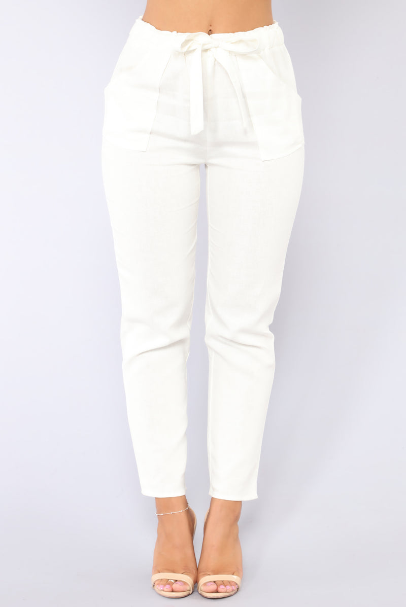 All Tied Up Pants - White