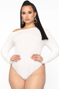 Carla One Shoulder Bodysuit - Ivory Angle 6