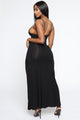 Flamenco Smiles Maxi Dress - Black