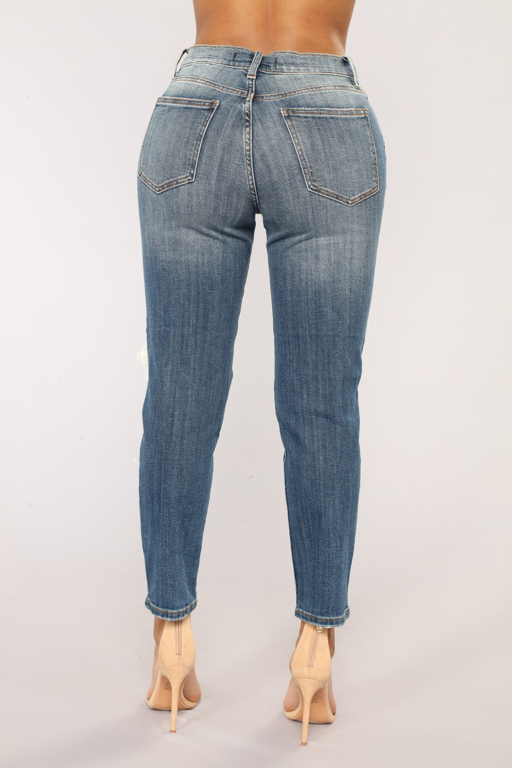 Frankie Boyfriend Jeans - Dark Denim