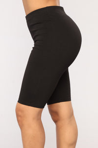 Almost Everyday Biker Shorts - Black