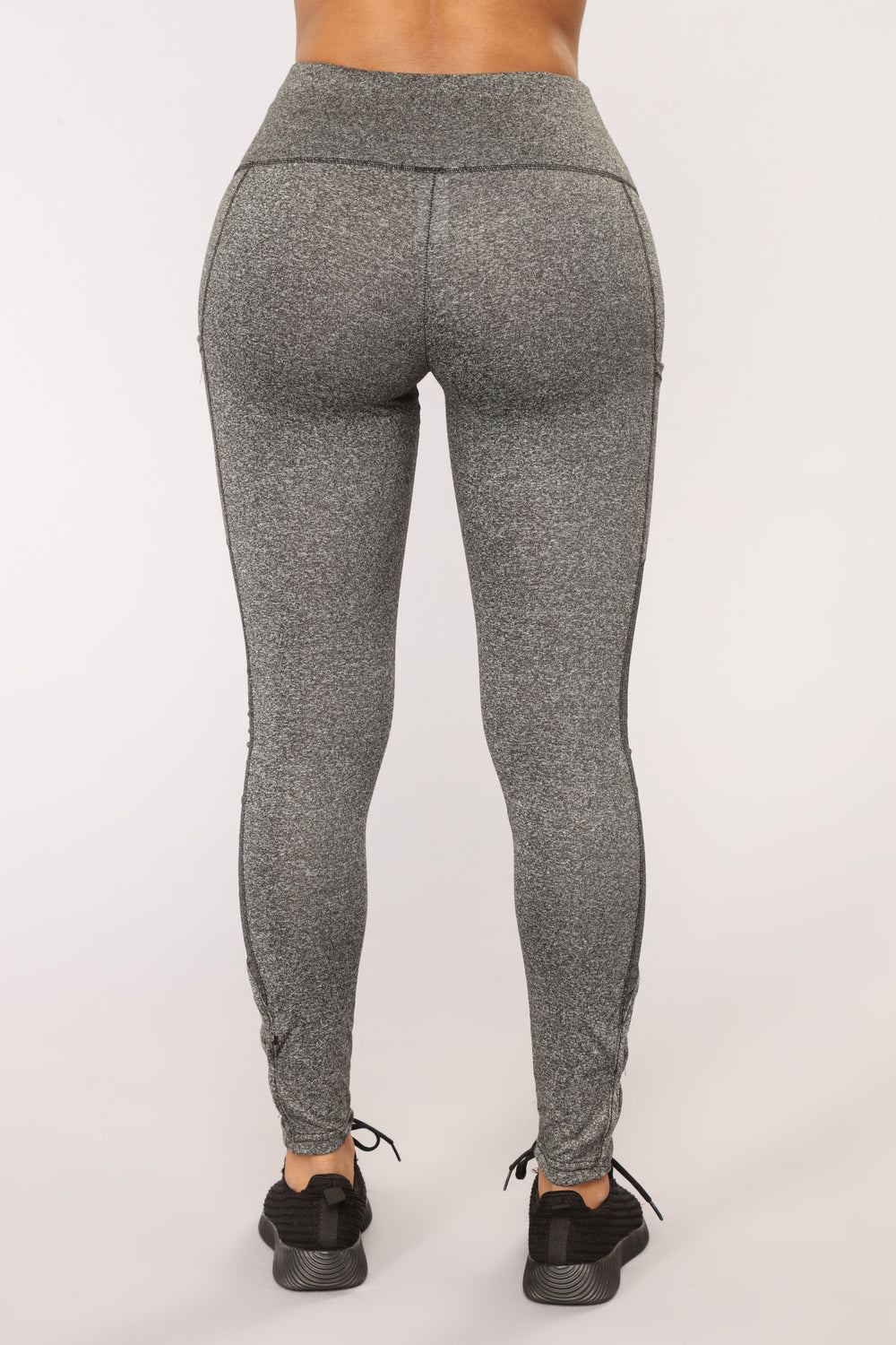 Cross My Heart Leggings - Grey