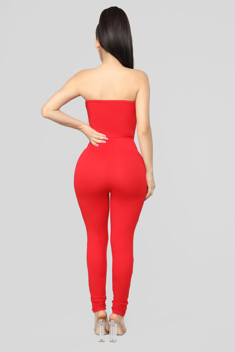 Jazzy Tube Jumpsuit - Red