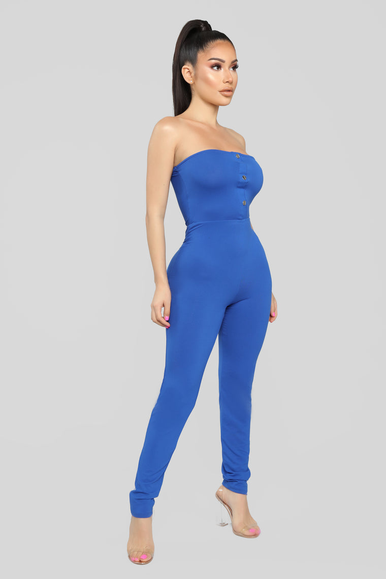 Jazzy Tube Jumpsuit - Royal