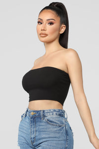 Not A Chance Tube Top - Black Angle 3