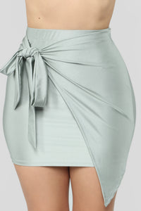 Top Model Wrap Skirt - Silver