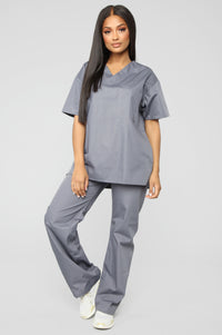 All Better Now Scrub Pant - Pewter