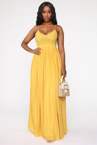 Ancient Rome Dress - Mustard Angle 1