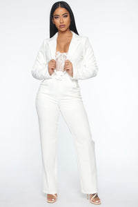 Good Luck Blazer Pant Set - White Angle 1