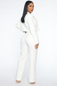 Good Luck Blazer Pant Set - White Angle 4