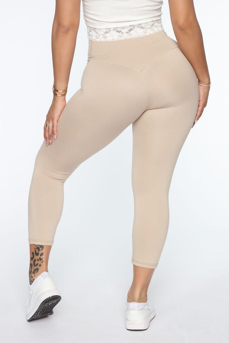 Got Your Booty Lifting Leggings - Taupe