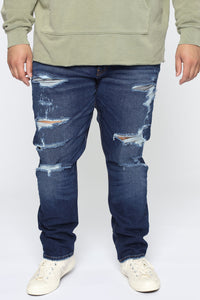 Big Shot Distressed Slim Taper Jean - Medium Wash Angle 6