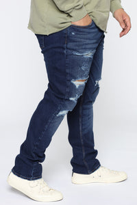 Big Shot Distressed Slim Taper Jean - Medium Wash Angle 7