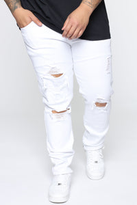 Point Of View Skinny Jeans - White Angle 6