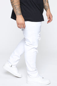 Point Of View Skinny Jeans - White Angle 7