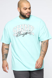 Shine Bright Short Sleeve Tee - Mint/combo Angle 4