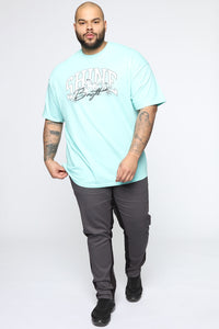 Shine Bright Short Sleeve Tee - Mint/combo Angle 5