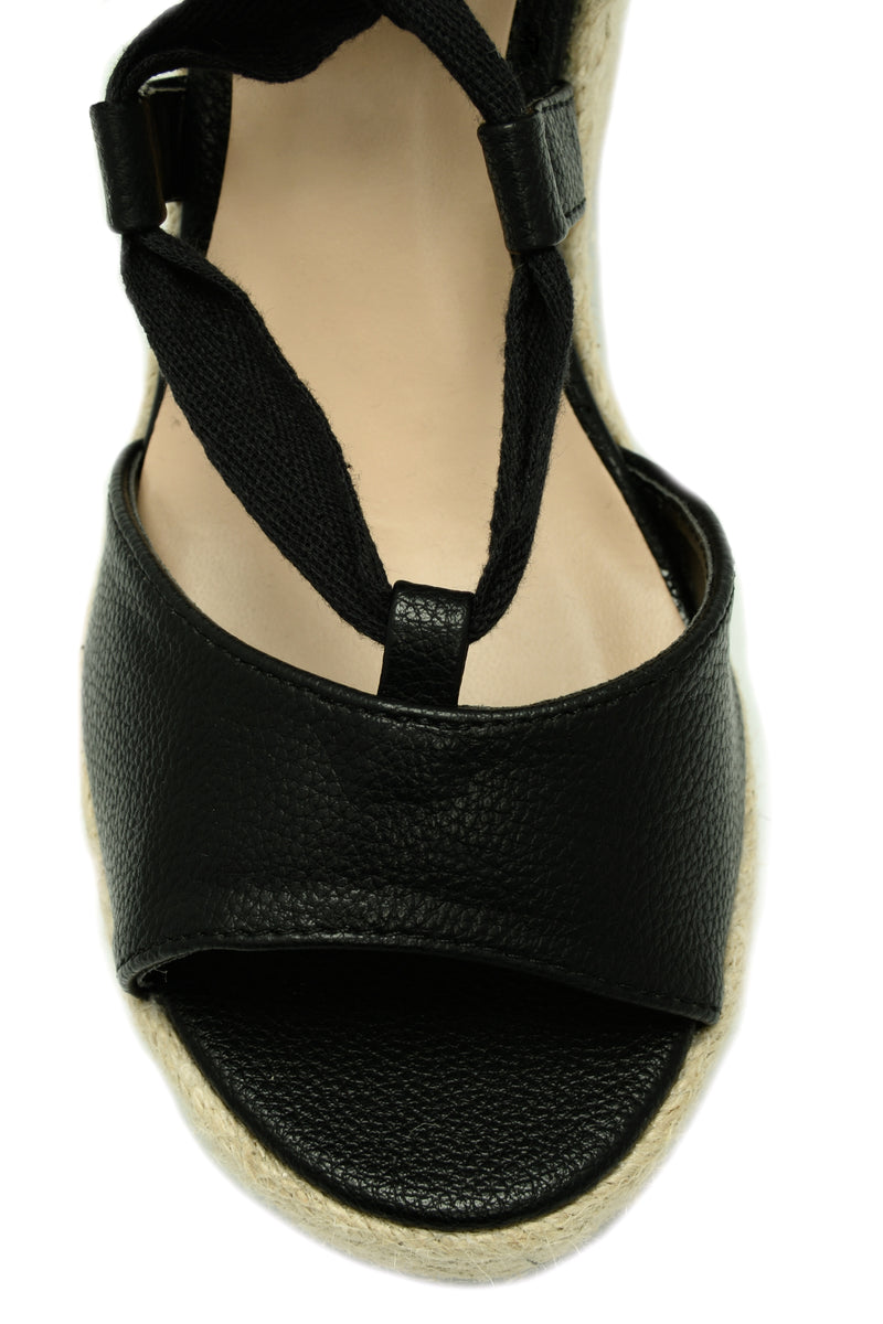 Tie Up Wedge - Black