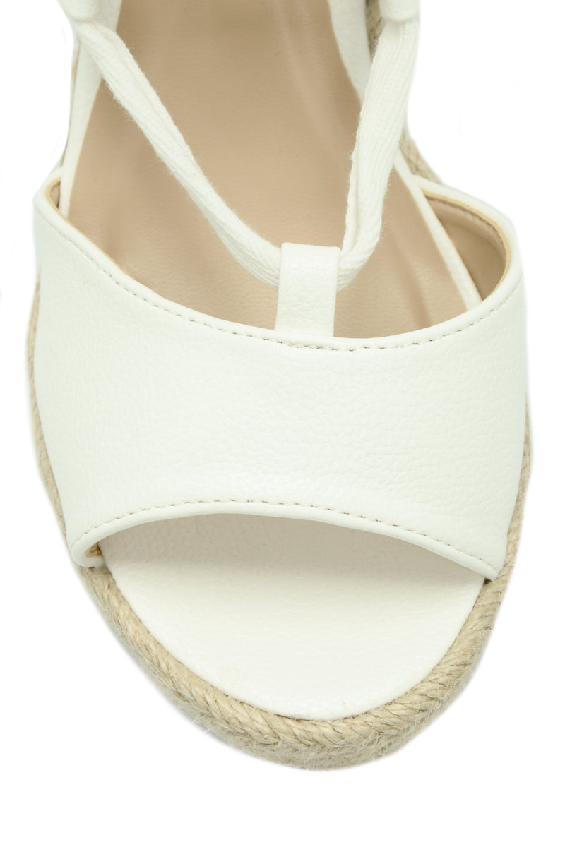 Tie Up Wedge - White