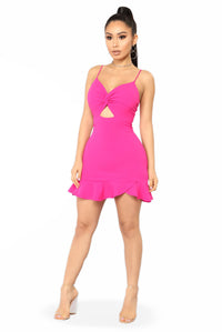 Without Your Kisses Dress - Fuchsia