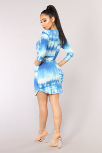 Water Energy Tie Dye Tunic - Blue