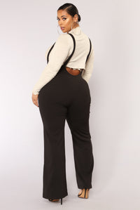 Jump In The Ring Jumpsuit - Black