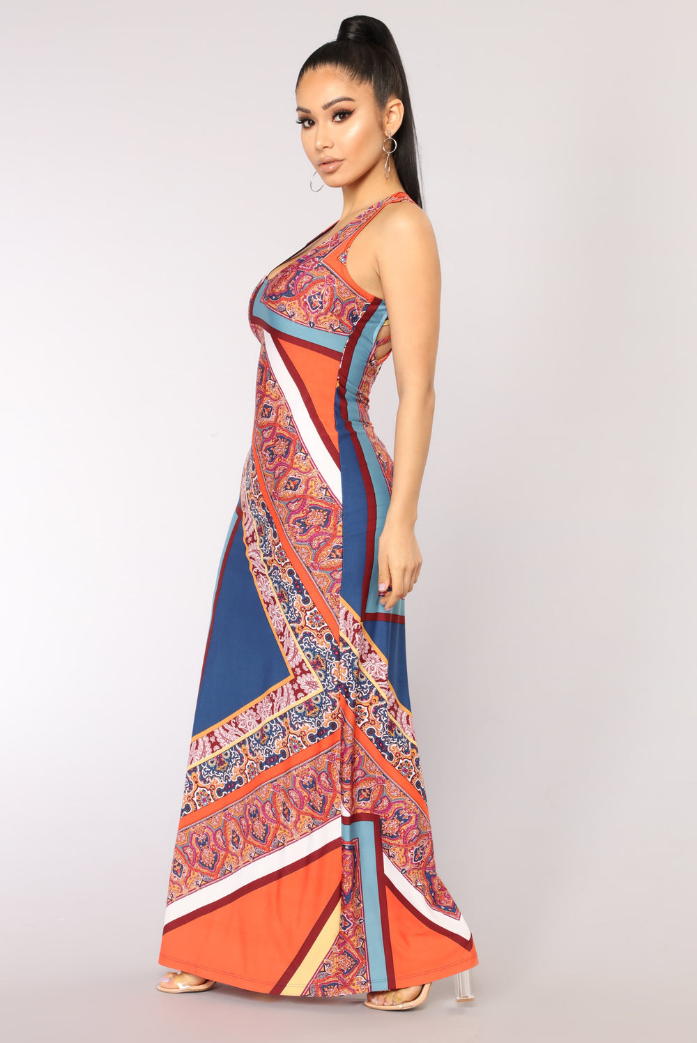 Fun Times Dress - Orange Multi