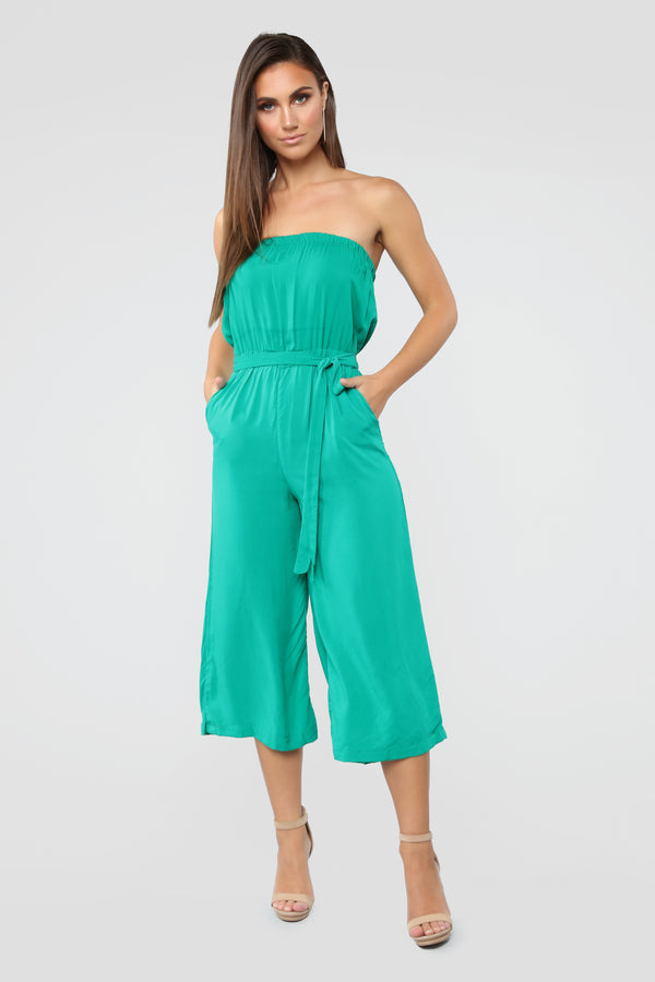 34518c46ffe5 Everyday Cropped Jumpsuit - Emerald