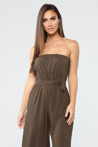 Everyday Cropped Jumpsuit - Olive