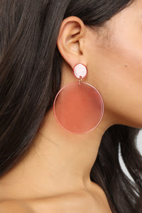 Drop of Color Earrings - Pink