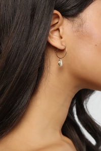 Keep You Close Hoop Earrings - Gold Angle 1